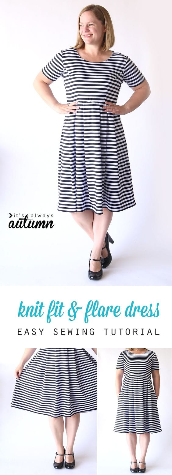 knit fit & flare dress