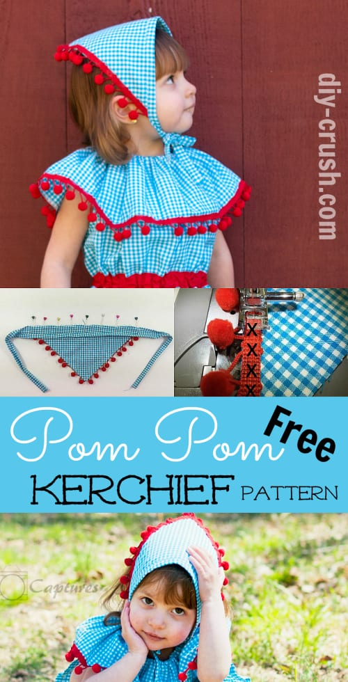 pom pom kerchief tutorial