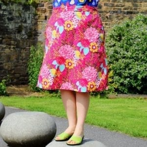A line skirt with pockets