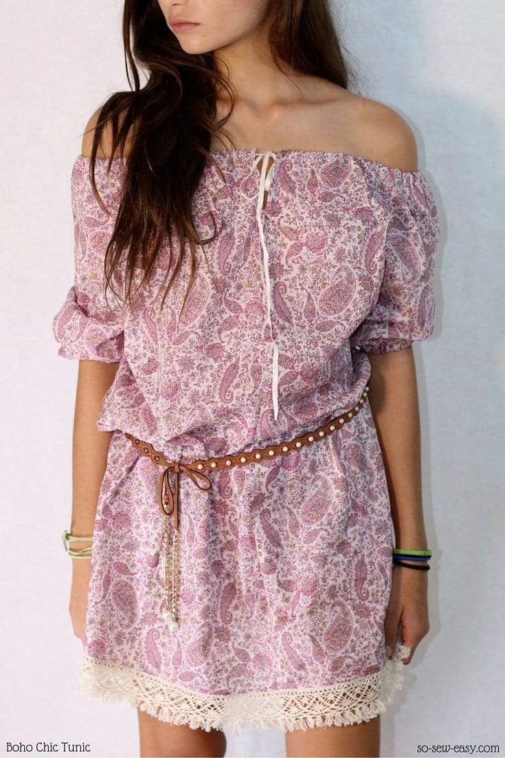Boho chic tunic pattern
