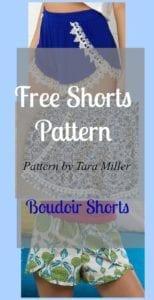 Boudoir shorts pattern
