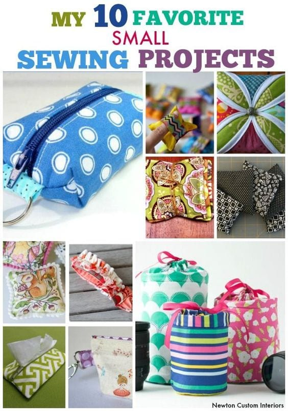 Fabric scraps sewing projects
