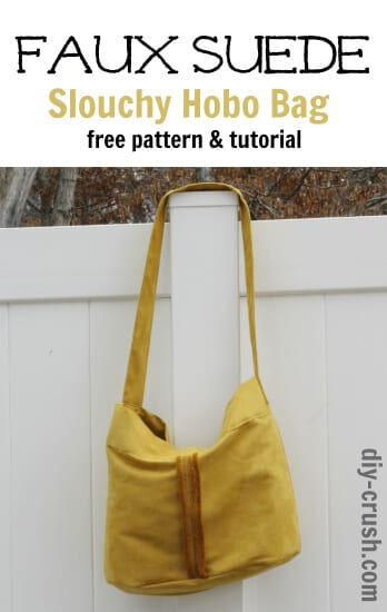 Faux suede bag pattern