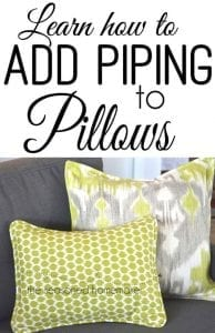 How to add pipping to a pillow