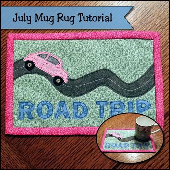 Road trip mug rug tutorial