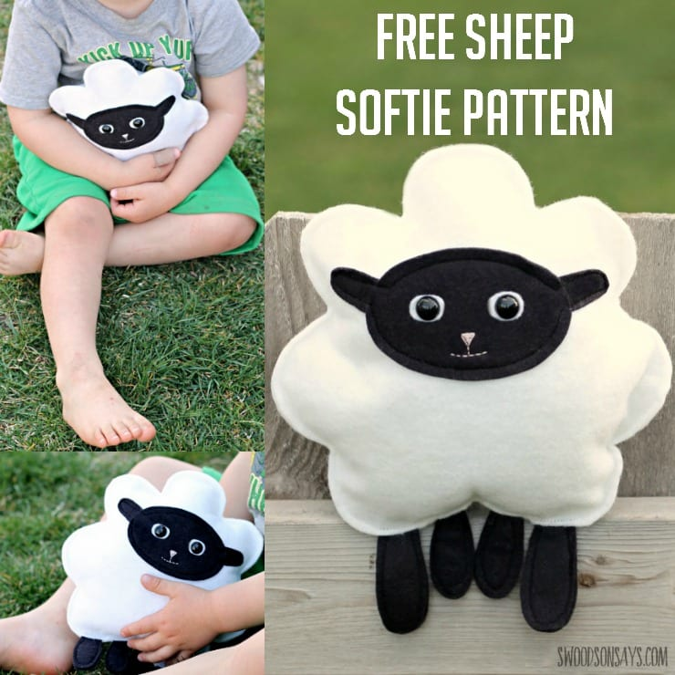 Stuffed Sheep Softie pattern