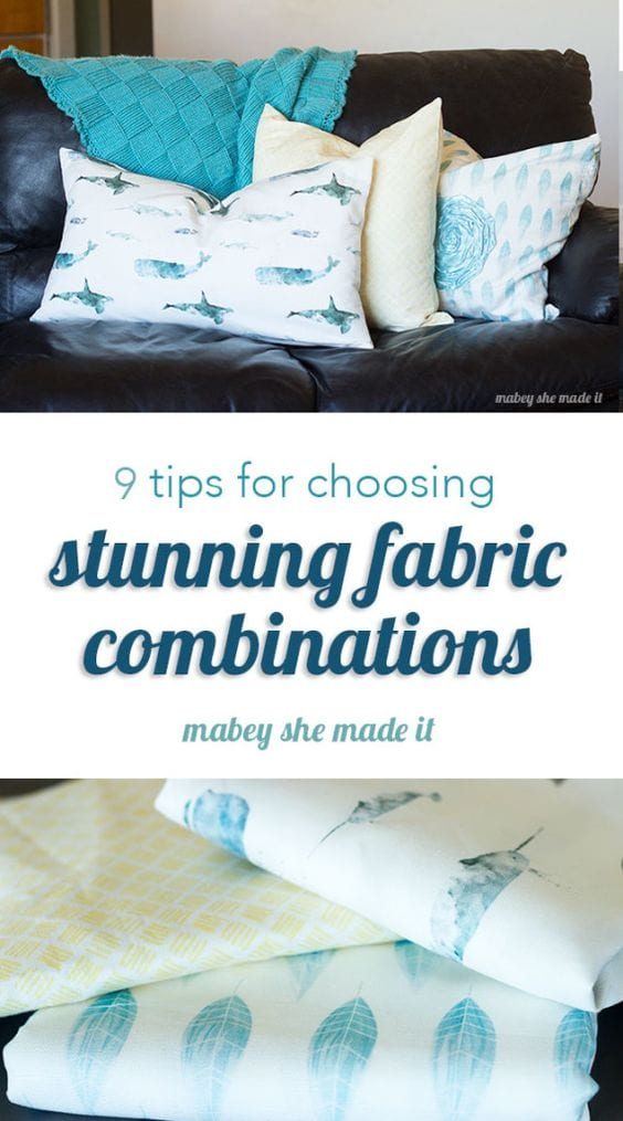 Tips for fabric combinations