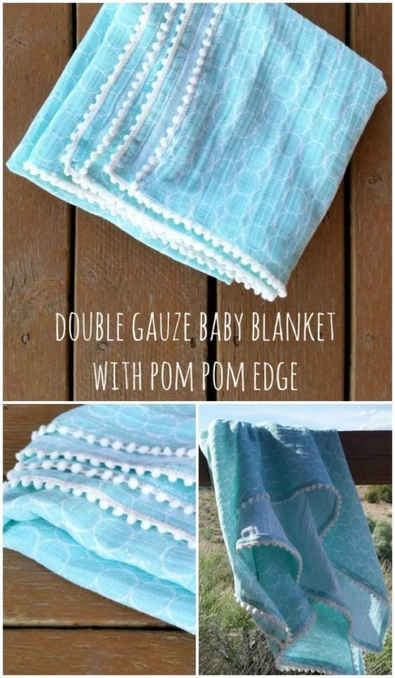 Double gauze fabric baby blanket