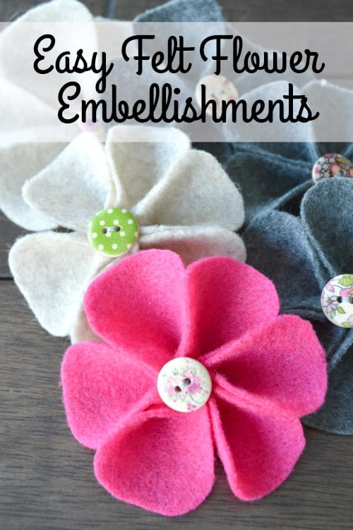 Felt Flower embellishments