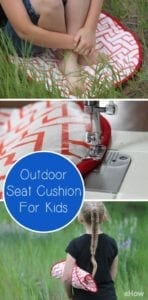 Outdoor seat cushion tutorial