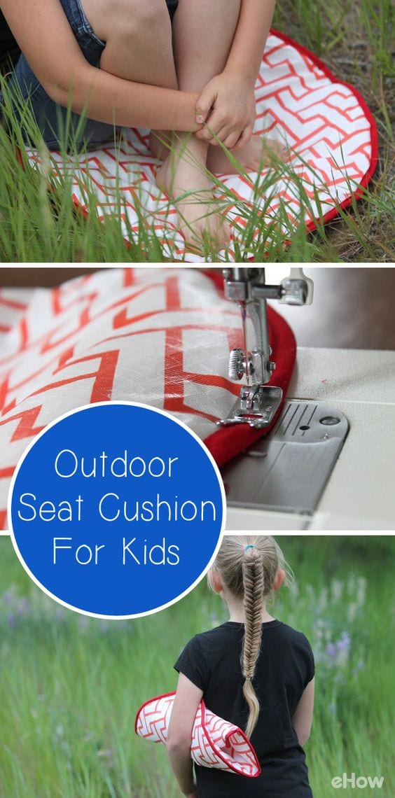 Outdoor seat cushion tutorial