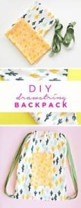 drawstring back pack tutorial.