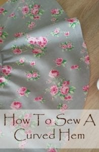 How to sew a curved hem
