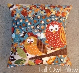 Fall pillow tutorial