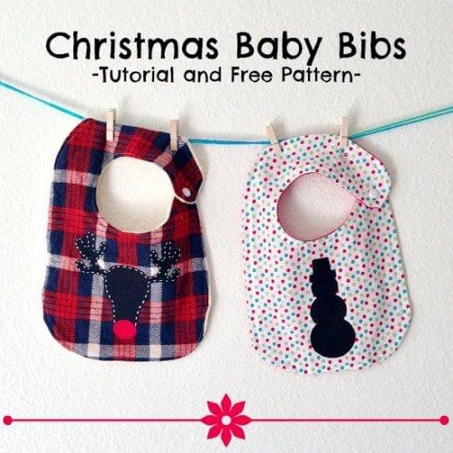 christmas baby bibs