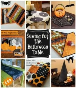 sewing halloween table