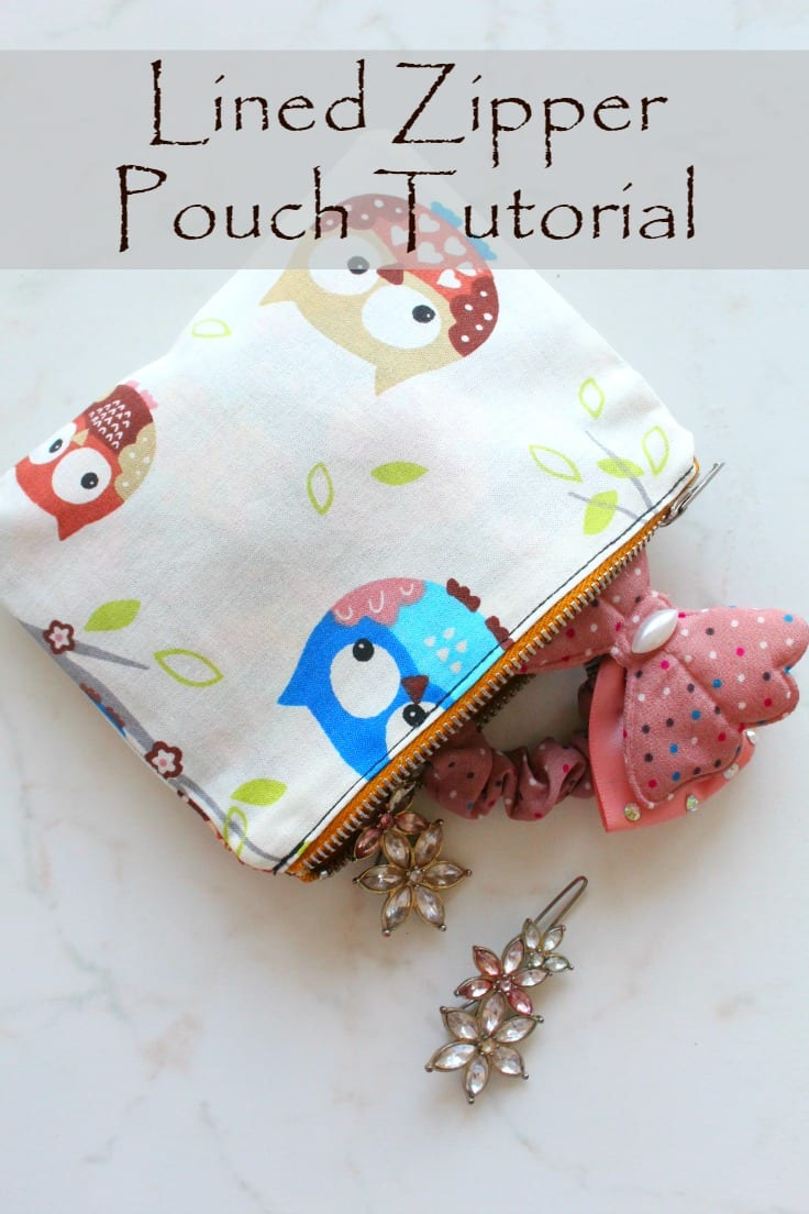 Lined Zipper Pouch