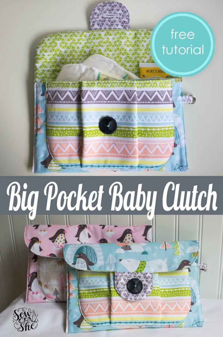 big pocket baby clutch