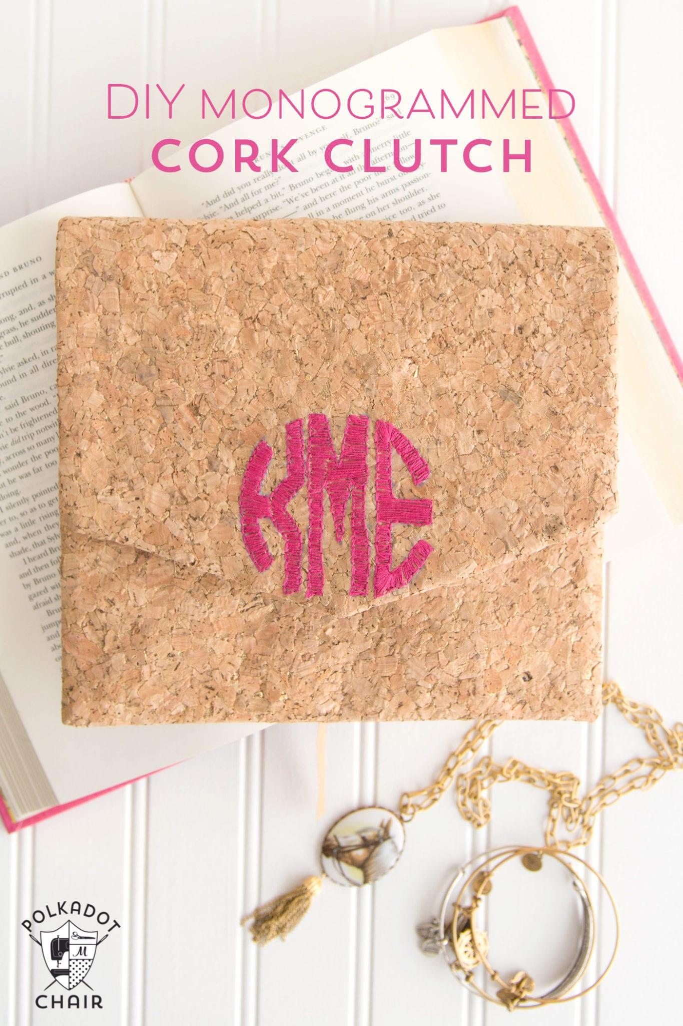 diy-monogrammed-cork-clutch