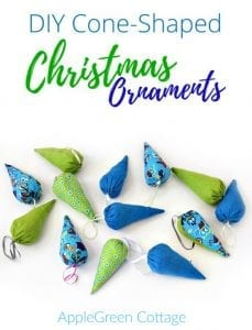 christmas cone ornaments