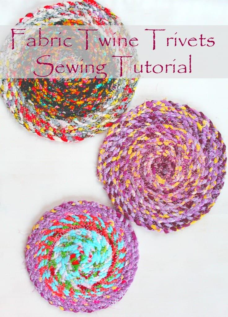 fabric twine trivets