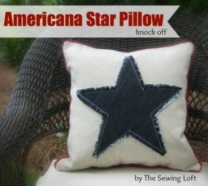 Americana Star Fringe Pillow