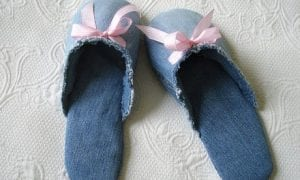 Slippers from jeans