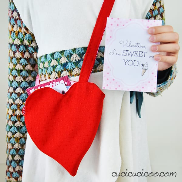 reversible valentine's day bag