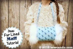 Faux Fur Lined Muff