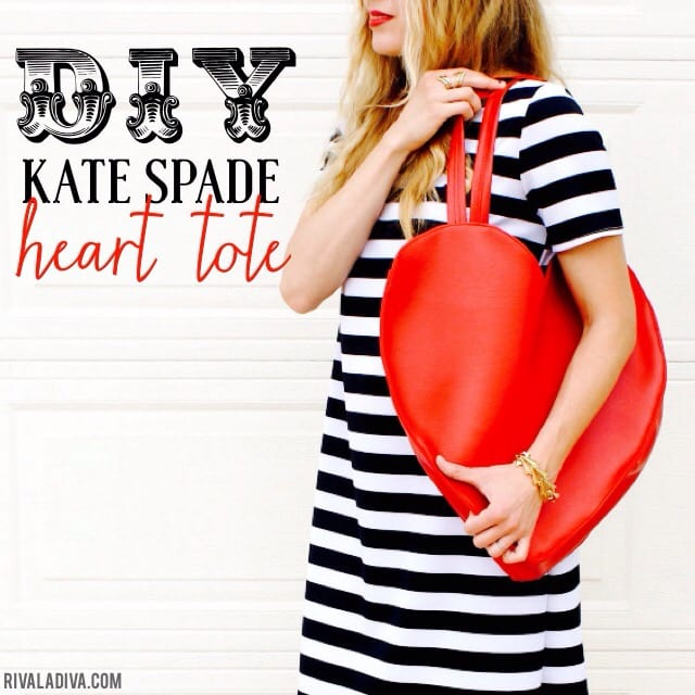 Kate Spade Inspired Heart Tote