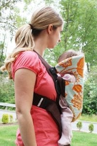 Baby carrier slip cover