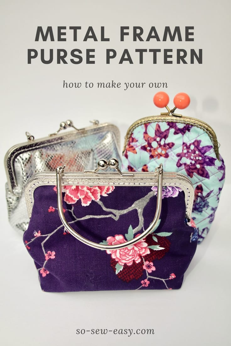 Metal clasp purse tutorial