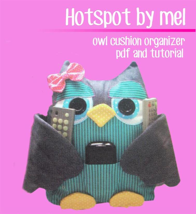 Owl Cushion Organizer