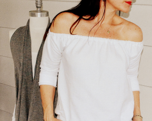 Off Shoulder Sweatshirt
