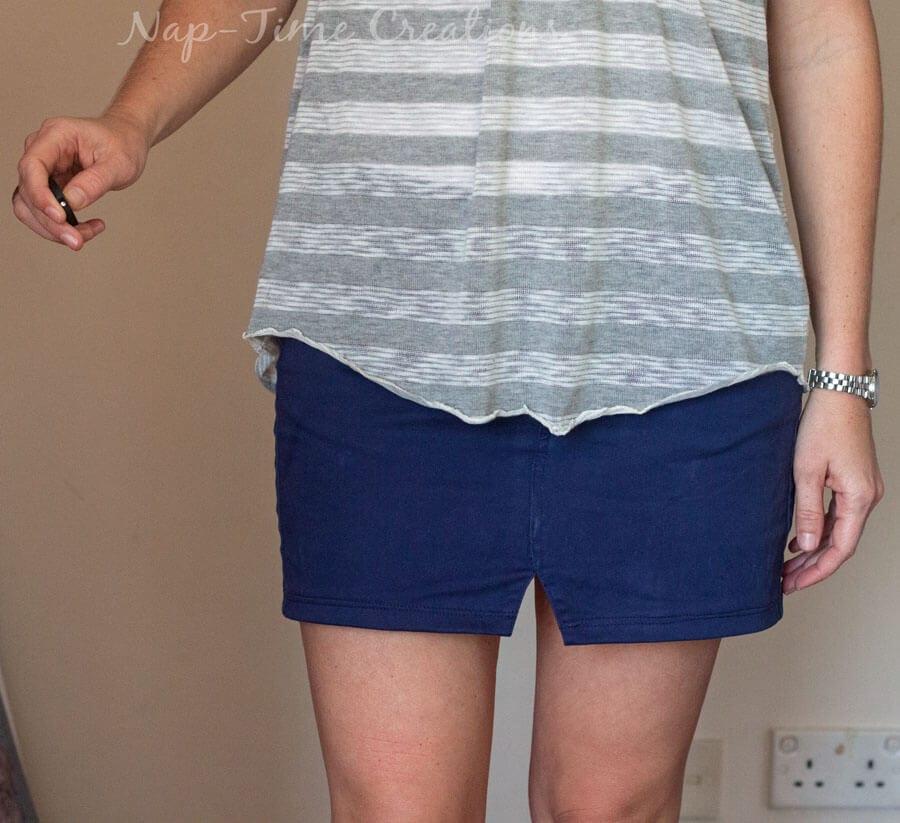 Pants to Skirt Refashion
