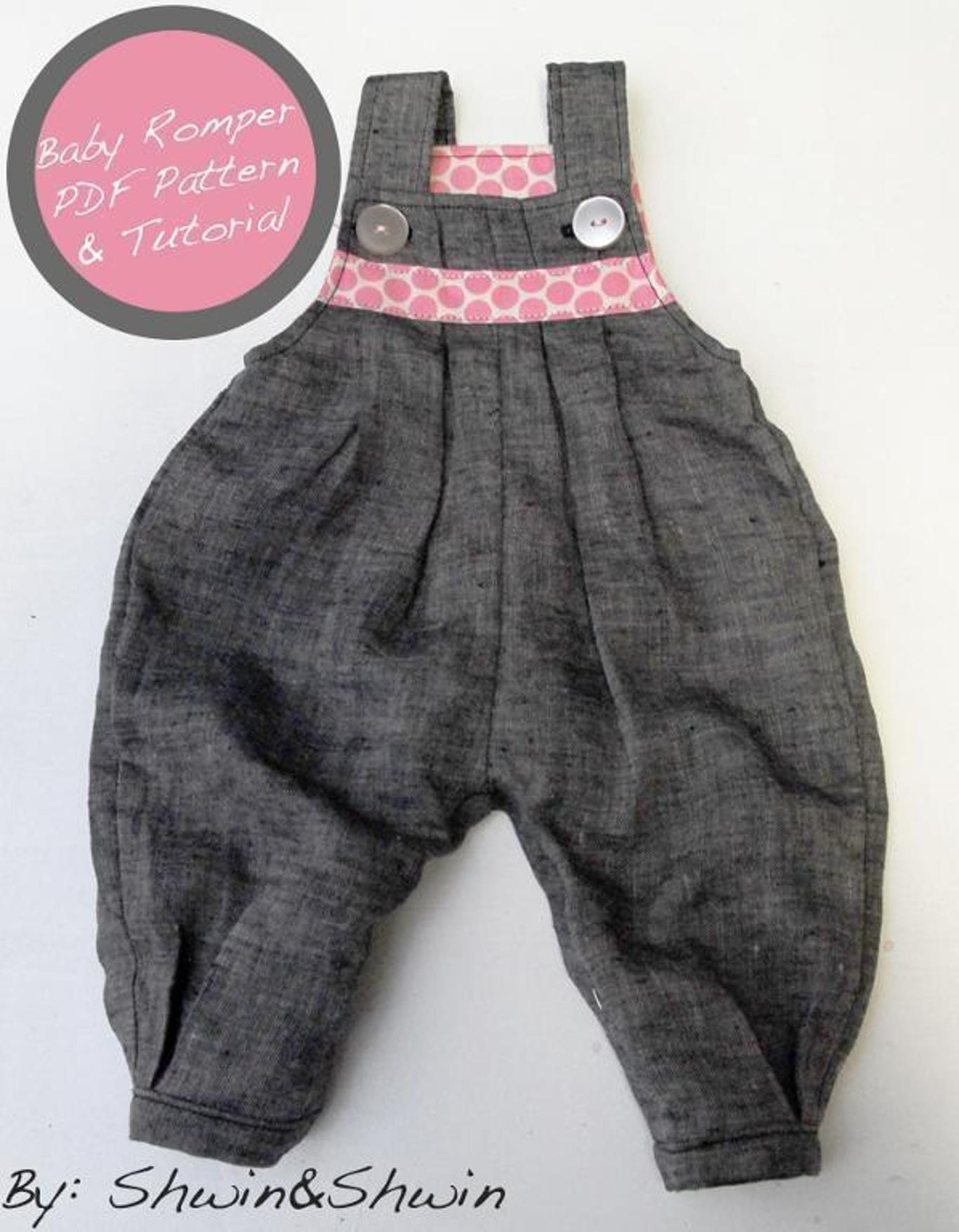 Pleated baby romper