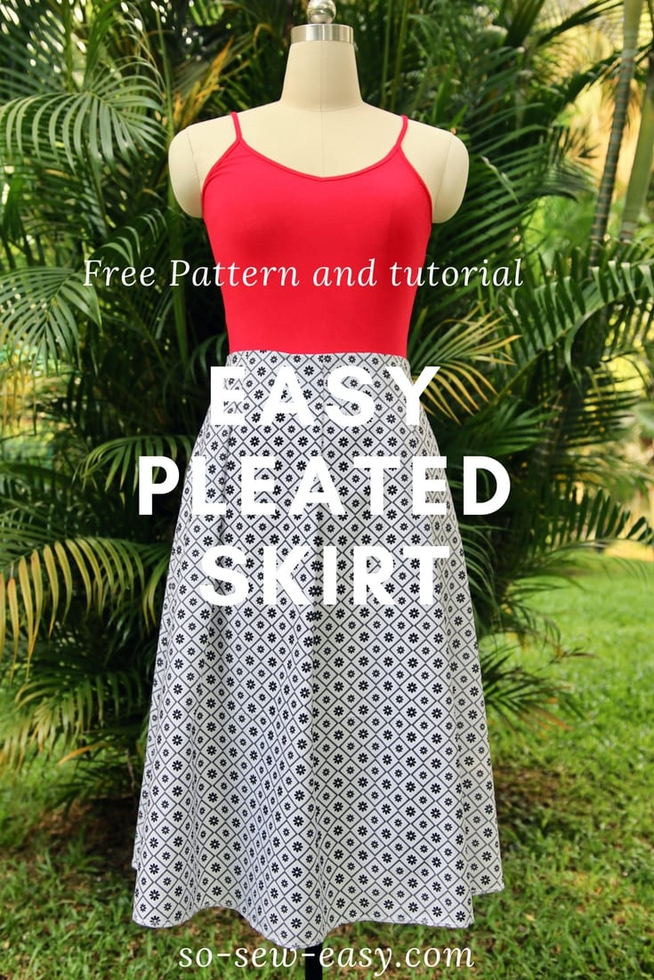 Easy Pleated Skirt