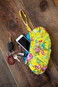 gathered zipper pouches