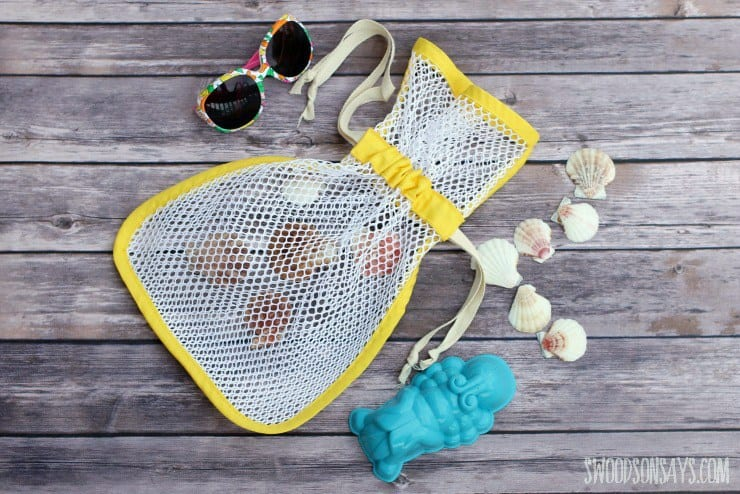 seashell collecting bag
