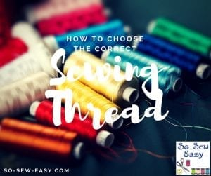 choosing sewing thread
