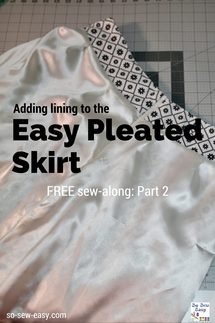 Easy Pleated Skirt Lining