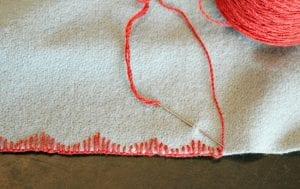 blanket stitches