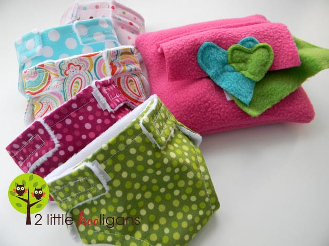 Doll diaper and wipes tutorial