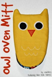 owl oven mitt sewing pattern