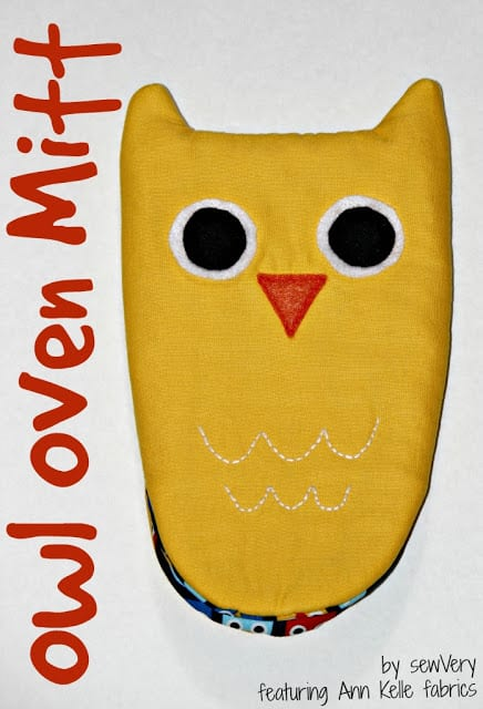 owl oven mitt sewing tutorial