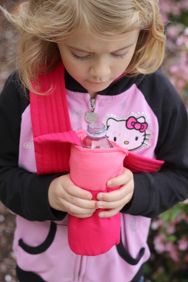 Water bottle holder sewing tutorial