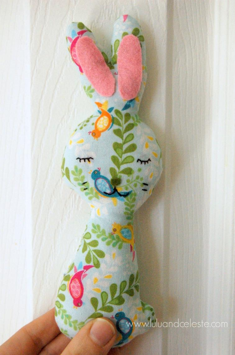 Bunny softie free sewing pattern