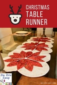 Christmas Table Runner FREE Sewing Pattern and Tutorial