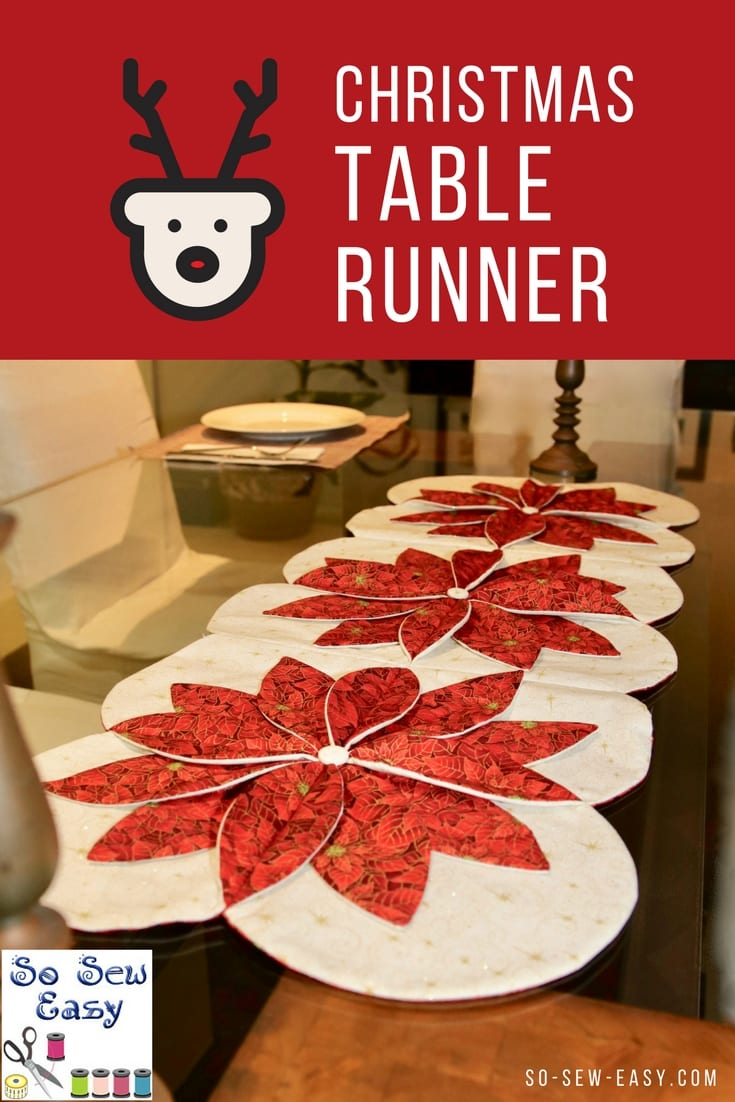 Christmas Table Runner Free Sewing Pattern And Tutorial Sewing 4 Free