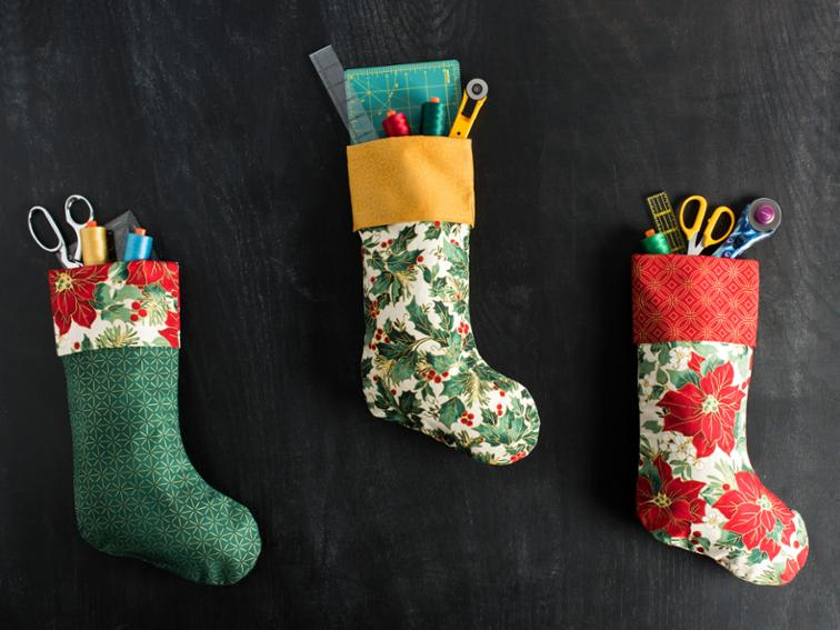 simple holiday stocking